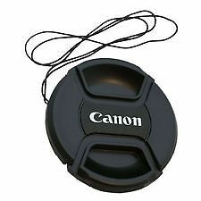 A1Q 58MM CENTER PINCH FRONT LENS CAP FORCANON EOS 18-55MM AND 55-250MM LENS 60D