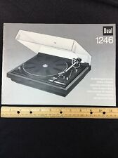 "Dual 1246 Turntable ""Original"" Owners Manual 29 Pages of combined languages"