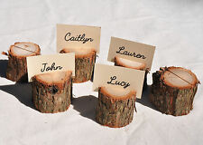 Wedding Place Card Holders,  Wooden Rustic Place Card Holders