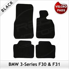 BMW 3-Series F30 F31 2012 onwards Velcro Pads Tailored Carpet Car Mats BLACK