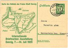 Danzig Ganzsache P46 mit Stempel Langfuhr