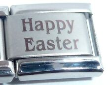 HAPPY EASTER Italian Charm -fits ALL 9mm Starter Bracelets Bunny Rabbit Egg N295