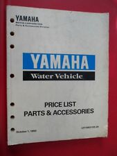 Yamaha Price List Parts & Accessories October 1 93 Water Vehicle LIT-10021-02-29