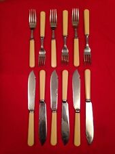 Vintage Chromium Plated Set Of Fish Cutlery c.1910-1935