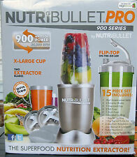 NutriBullet Blender pro 900w 15pcs Juicer Extractor Mixer Grey Sp. Limited Pcs