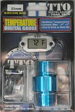 TRAIL TECH TTO DIGITAL TEMP TEMPERATURE METER GAUGE IN LINE HOSE SENSOR 22MM