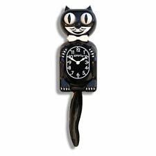 NIB! Clock Kit-Cat Black Kat Quartz Classic Moving Eyes & Tail Wall Klock Decor