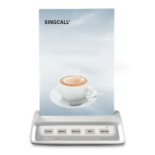 SINGCALL Wireless Calling Bell System Muliti-keys with 5 Options for Restaurant