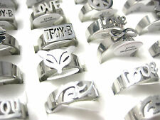 wholesale lot 18pcs mixed styles women's stainless steel jewellery rings