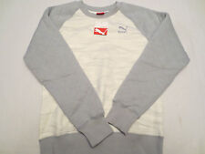 PUMA QUILTED CREW SWEAT SHIRT FLEECE QUARRY 567109 20 Mens Size SMALL S $80 NWT