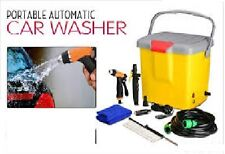 PORTABLE AUTOMATIC 12 V CAR WASHER WITH POWER GUN & BRUSH FOR POWERFUL PRESSURE