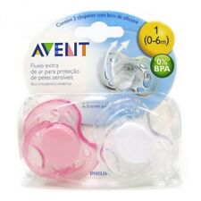 Avent Orthodontic Dummy Pacifier Baby Infant Freeflow Silicone Teat Soother P