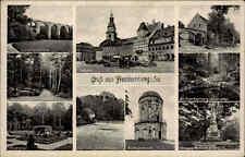 Feldpostkarte FRANKENBERG Sachsen 1941 Deutsche Feldpost gelaufen Briefstempel