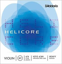 D'Addario Helicore Violin String Set 4/4 Scale, Heavy Tension. P/N0:-H310H 4/4