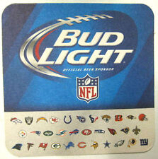 BUD LIGHT 32 NFL TEAM LOGOS Beer COASTER Mat, St. Louis, MISSOURI, Football 2014