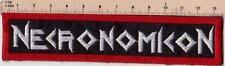 NECRONOMICON EMBROIDERED PATCH THRASH BLACK METAL SODOM ABIGAIL Metal Negro