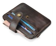 Imported Genuine 100% Pure Leather Credit Card Holder Case Wallet for Men