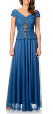 NEW Cachet Women's Slate Blue/ 6/ Embellished Evening Gown Long Dress