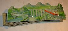 Vintage Tin Litho Technofix Mountain Express Partial Wind-Up Toy Set Germany