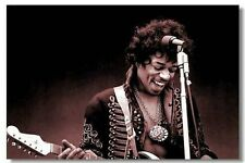 "Jimi Hendrix Guitar Solo Music Vintage Decor 36X24"" Fabric Poster 371"