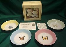 New Lenox Butterfly Meadow Fruit Dishes Set of 4