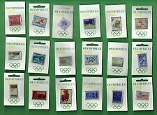 #D513. SET OF 18 SYDNEY OLYMPIC 2000  OLYMPHILEX  STAMP EXHIBITION PINS