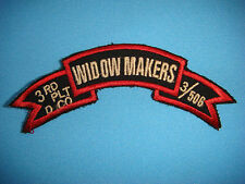 VIETNAM WAR SCROLL PATCH, US D Co 3rd WIDOW MAKERS 3/506