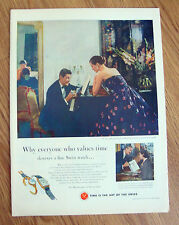 1953 Watchmakers of Switzerland Ad Art of the Swiss Everyone who Values Time