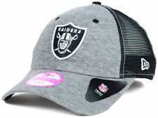 NEW ERA 9FORTY WOMEN'S NFL TRIBLEND TRUCKER HAT/CAP - OAKLAND RAIDERS