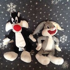 """BOOTS LOONEY TUNES 12"""" Sylvester and 10"""" Bugs Bunny Soft plush toy"""