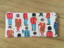 Handmade Fabric Pencil Make-Up Glasses Case - Cath Kidston Guards And Friends