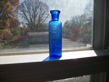 INECTO COBALT BLUE 1900 ERA HAIR COLORING BOTTLE MOLD BLOWN 3 INCHES