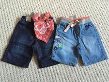 Next Boys Brand New with Tags Age 2-3 ~ 2 Pairs Shorts Bundle Campervan Detail