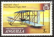WRIGHT FLYER I (First Powered Flight) Aircraft Stamp (1979 Anguilla)