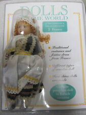 "DOLLS OF THE WORLD ""FRANCE"" BOXED.GENUINE PORCELAIN DOLL IN FRENCH COSTUME"