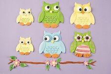 Owl  Patchwork Cutters Sugarcraft Christmas hat stars moon NEXT DAY DESPATCH