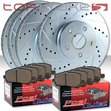 TL/Type S w/BREMBO F&R Drilled Slotted Brake Rotors Pad