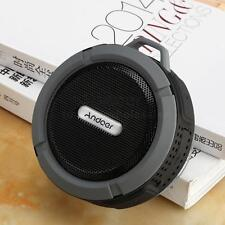 Andoer 5W Wireless Bluetooth Outdoor Stereo Speaker Soundbox Mic Hands-free Gray