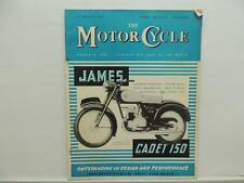 Aug 1957 The Motorcycle Magazine James Cadet 150 Shell X100 Sidecar L8281