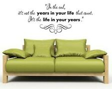 """LIFE THAT COUNTS Words Vinyl Wall Decal Lettering Sticky Sticker Quote 24"""""""