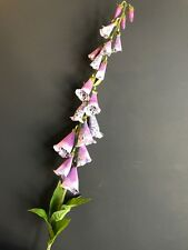 Tall Faux Silk Foxglove 110cm Purple White Artificial Wild Flowers Fox Gloves