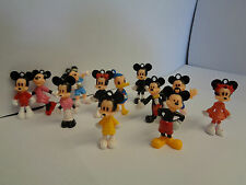 MICKEY/MINNIE MOUSE Mini Juguete Figura Set/Key Ring Set/Cake Topper - 12 piezas