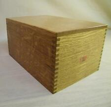 Vintage Weis Oak Card Catalog Library Filling 3x5 Wood Box