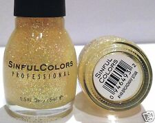 SC SINFUL COLORS PROFESSIONAL NAIL POLISH HOLOGRAPHIC # 149 BROADWAY STAR RARE