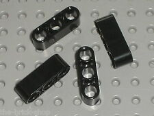 4 x LEGO Technic black Beam 3 ref 32523 / set 42043 8258 42008 8682 8053 8436...