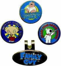New Family Guy Magnetic Ball Marker & Hat Clip - 4 Piece Set