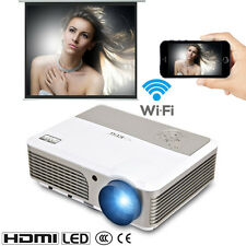 UK Wifi Android Home Cinema Projector 1080p HD Online Games Party Video HMDI USB