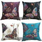 """NEW Embroidered Butterfly Floral Luxury Quality Cushion Cover 45x45cm 18""""x18"""""""