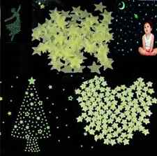 Wall Light Green Glow 100pcs Home In The Dark Star Stickers Decal Baby Kids Room