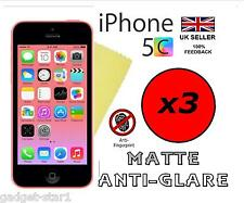 3x Hq Mate Anti Glare Screen Protector Funda Film Protector Para Nuevo Iphone 5c De Apple